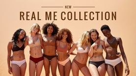 "Aerie ""Real Me"" Collection ad featuring women of various body types."