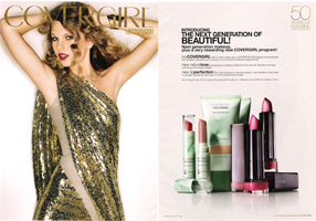 CoverGirl beauty ad