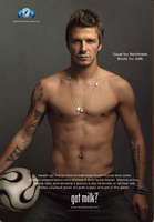 David Beckham milk ad