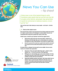 News You Can Use - tip sheet