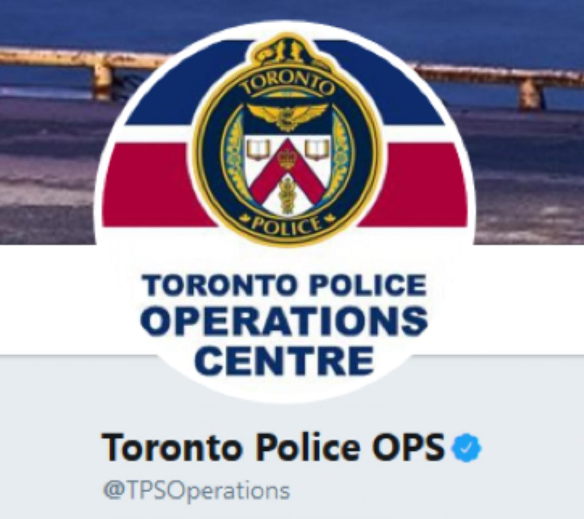 Toronto Police OPS Twitter Account
